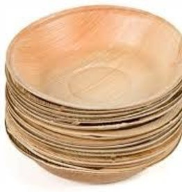 "Leafware 3"" Disposable Palm Leaf Square Bowls 25ct"