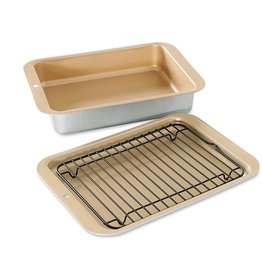 "Nordic Ware NORDIC WARE Mini 3pc Broil and Bake Set Aluminum 10"" x 7"""