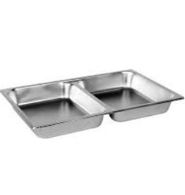 "THUNDER GROUP, INC Full Size 1/2""  Deep 24 Gauge Divided Steam Pan"