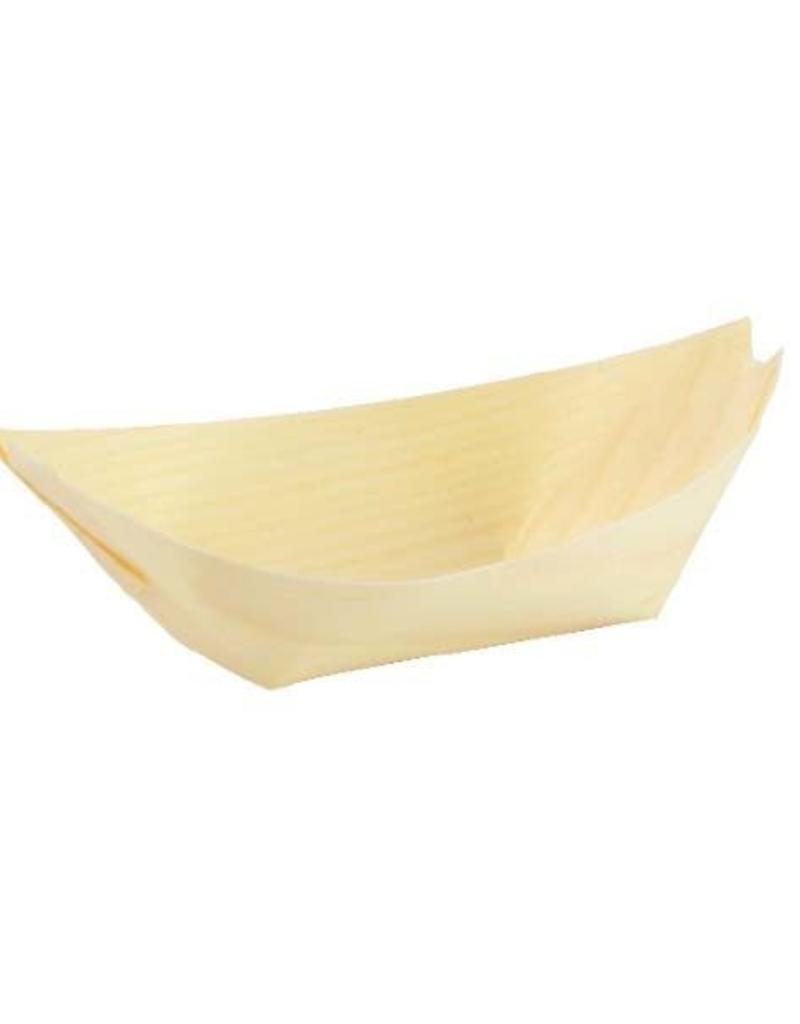 """UNIQUE MAUFACTURING UNIQUE 7"""" Wood Bowl Boat 100pcs per bag"""