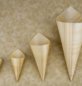 "UNIQUE MAUFACTURING UNIQUE 5"" 100/bag Wood Cone Double Wall"