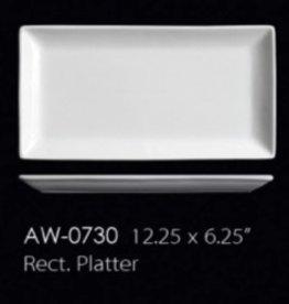 "UNIVERSAL ENTERPRISES, INC. 12.25 X 6.25"" Rectangular Platter 12/cs"