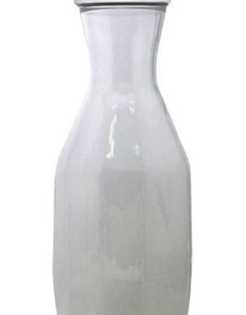 UPDATE INTERNATIONAL Update 33 Oz. P.c. Decanter W/ White Lid **