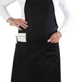 "UPDATE INTERNATIONAL Update 33"" Cotton Twill Bib Apron Black"