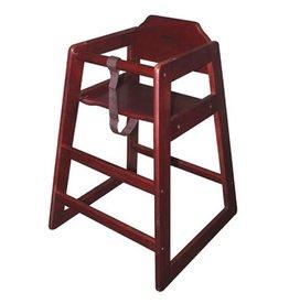 WINCO WINCO Stacking Hi-Chair Mahagony