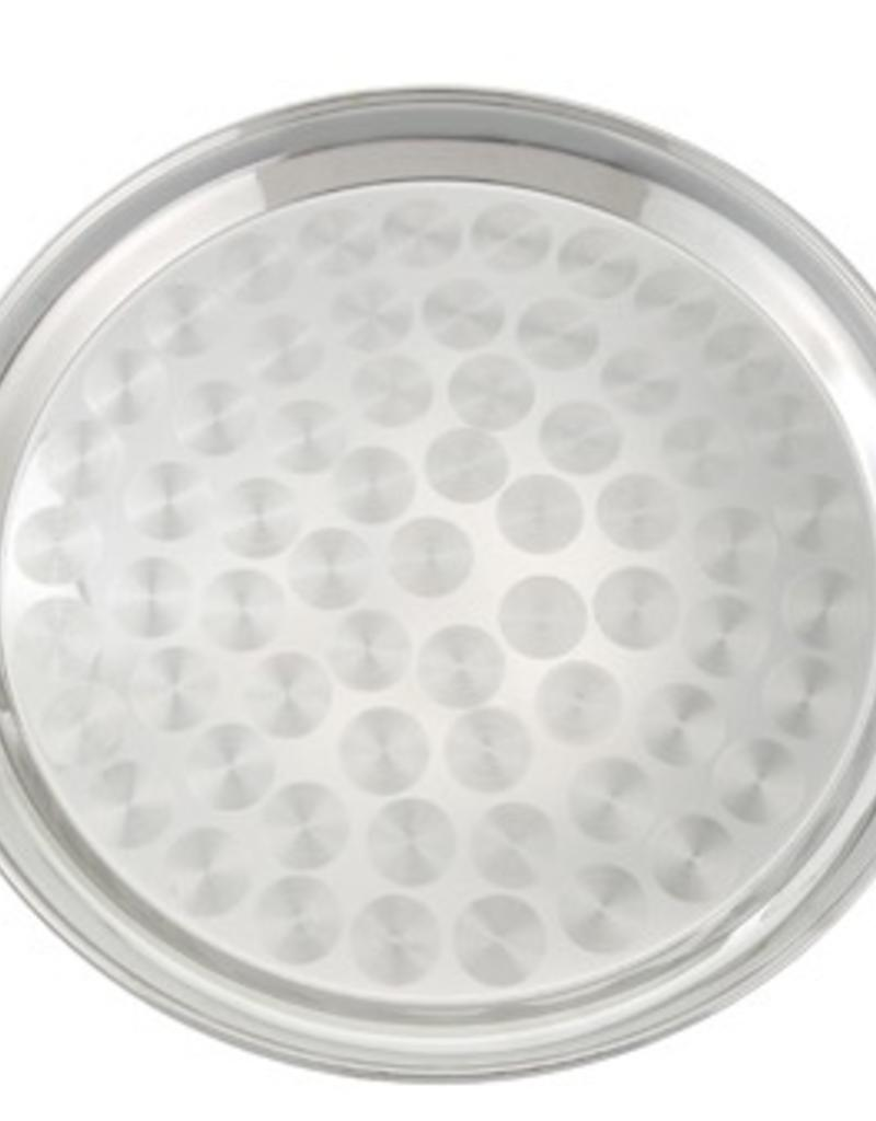"WINCO WInco 12"" serving tray swirl, round"