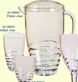 LEADINGWARE GROUP INC LEADINGWARE Acrylic 2.75 qt  Pitcher - Swivel Design Clear