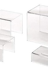 AMERICAN METALCRAFT, INC AMC Acrylic Riser Set of 4 Clear