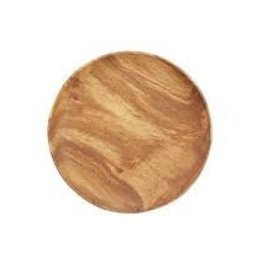 "PACIFIC MERCHANTS PM 10"" Round Plate Acacia Wood"