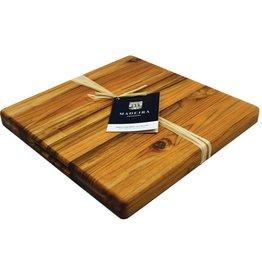 "Architec ARCHITEC Madeira Board Teak-Edge Wood Grain Medium Chop Block 14""x14""x1.25"