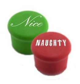 CAPABUNGA Naughty Nice Holiday Wine Stopper