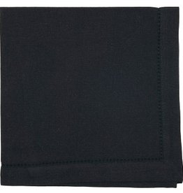 NOW DESIGNS Napkin Hemstitch Black 20x20""