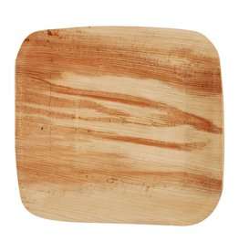 "Leafware 7"" Disposable Palm Leaf Square Plate 25ct"