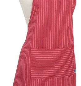 NOW DESIGNS Apron Basic Pinstripe Chili