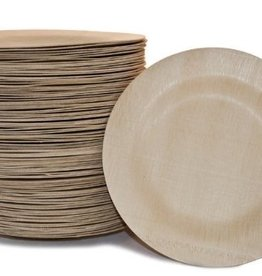 "BAMBU 7"" Fancy Bamboo Round Wavy Plate pack of 8"