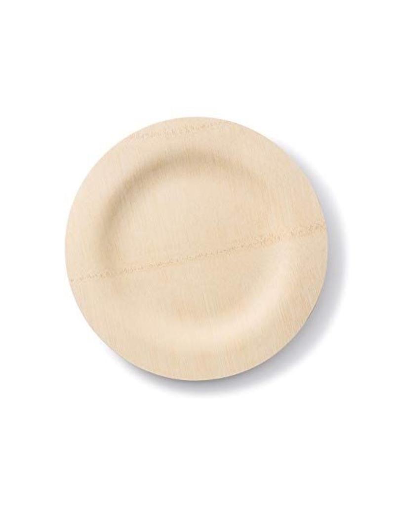 """Bambu BAMBU 11"""" Fancy Bamboo Round Wavy Plate"""