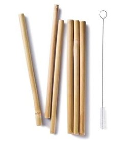 "Bambu BAMBU 8.5"" Bamboo Straws Set of 6"
