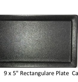 UNIVERSAL ENTERPRISES, INC. 9 x 5 Rectangular Plate Black