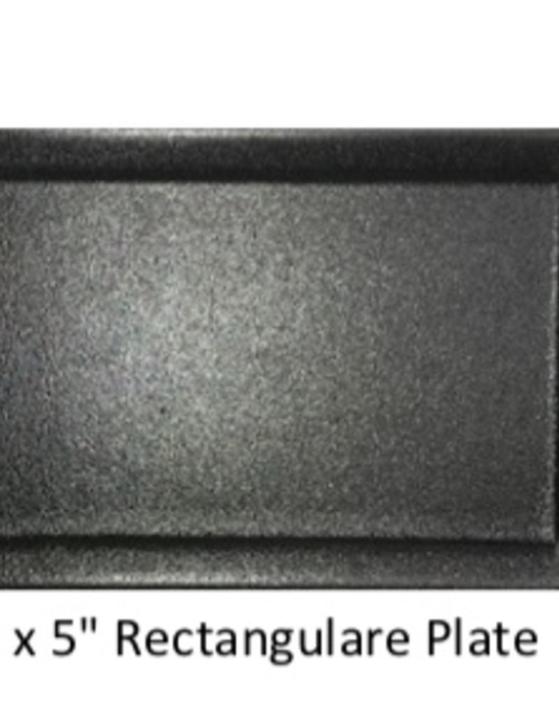UNIVERSAL ENTERPRISES, INC. 9 x 5 Rectangular Plate Black 24/cs