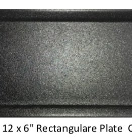 UNIVERSAL ENTERPRISES, INC. 12 x 6 Rectangular Plate Black