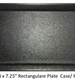 "UNIVERSAL ENTERPRISES, INC. 14 x 7.25"" Rectangular Plate Black"