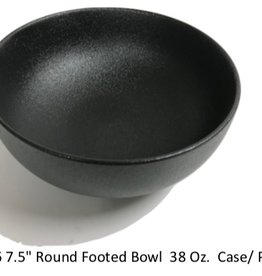 "UNIVERSAL ENTERPRISES, INC. 7.5"" Round bowl 38 oz. Black 12/cs"