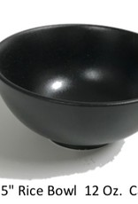 "UNIVERSAL ENTERPRISES, INC. 4.5"" round bowl 12 oz Black"