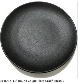 "UNIVERSAL ENTERPRISES, INC. 11"" round Coupe Plate Black 12/cs"