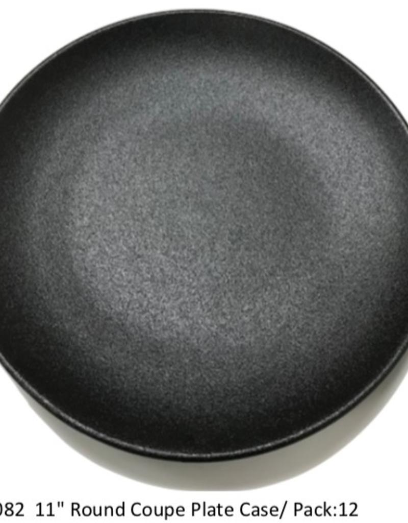 "UNIVERSAL ENTERPRISES, INC. 11"" round Coupe Plate Black"