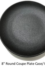"UNIVERSAL ENTERPRISES, INC. 8"" round Coupe Plate Black"