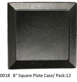 """UNIVERSAL ENTERPRISES, INC. 8"""" square plate Black 12/cs"""