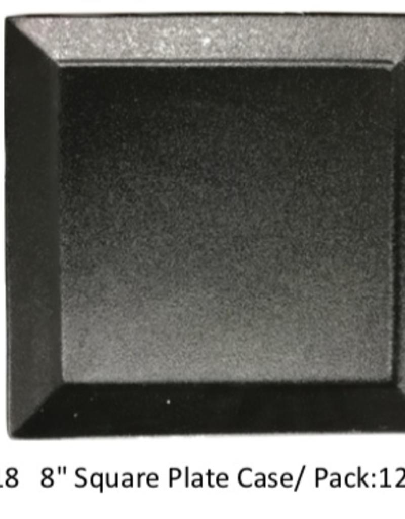 "UNIVERSAL ENTERPRISES, INC. 8"" square plate Black"