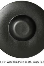 "UNIVERSAL ENTERPRISES, INC. 11"" Wide Rim plate 10 oz. Black Round"