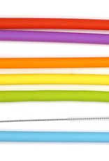 RSVP INTERNATIONAL INC RSVP Silicone Straws Smoothie Different Colors + Cleaning brush