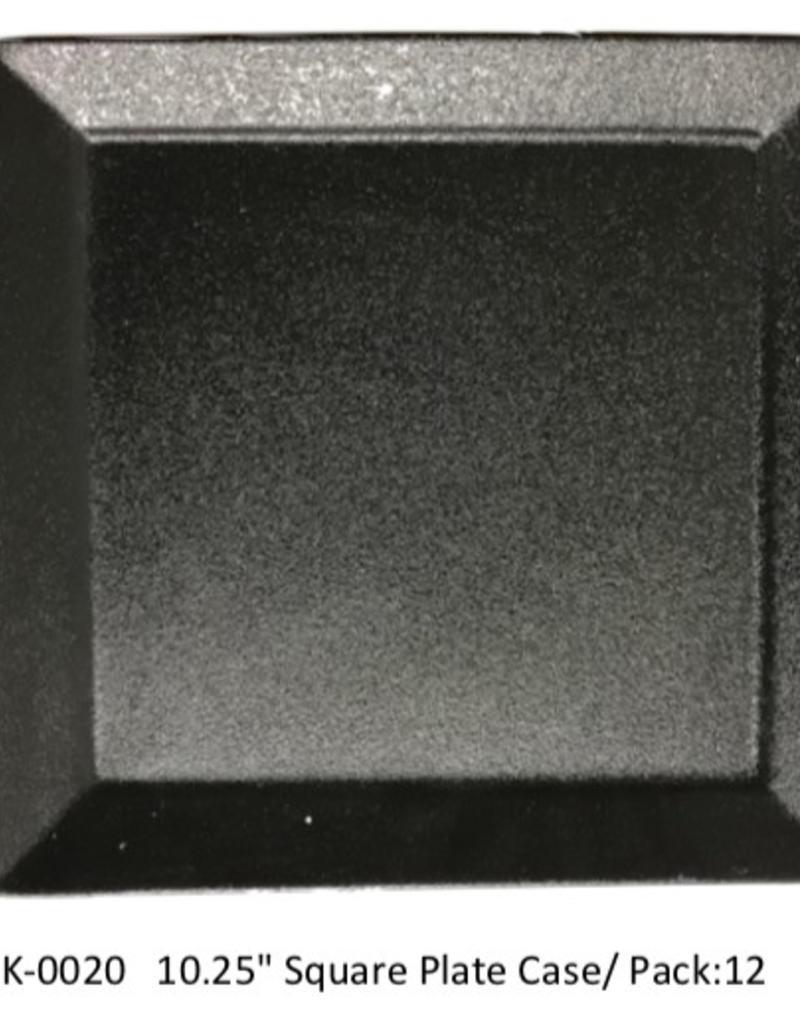 """UNIVERSAL ENTERPRISES, INC. 10.25"""" Square Plate Black 12/cs"""