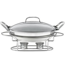 """CONAIR  CORP. Cuisinart  3 qt Chafer Round Buffet Server Chafing Dish 11"""" glass lid"""