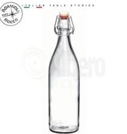 BORMIOLI ROCCO GLASS Bormioli 17 oz clear Giara Bottle  12/cs