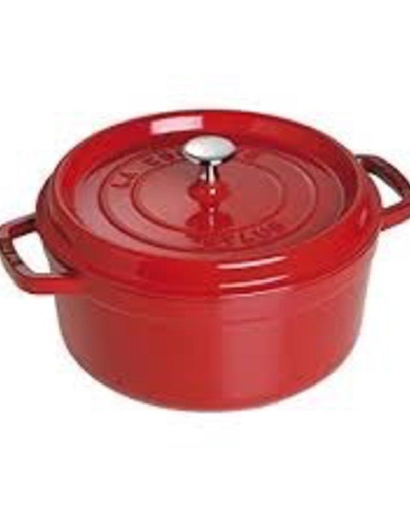 Henckels STAUB 4qt Round Cocotte Cherry/Red French Cast Iron Staub