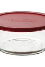 ANCHOR HOCKING Anchor 7 cup round sotorage with red lid