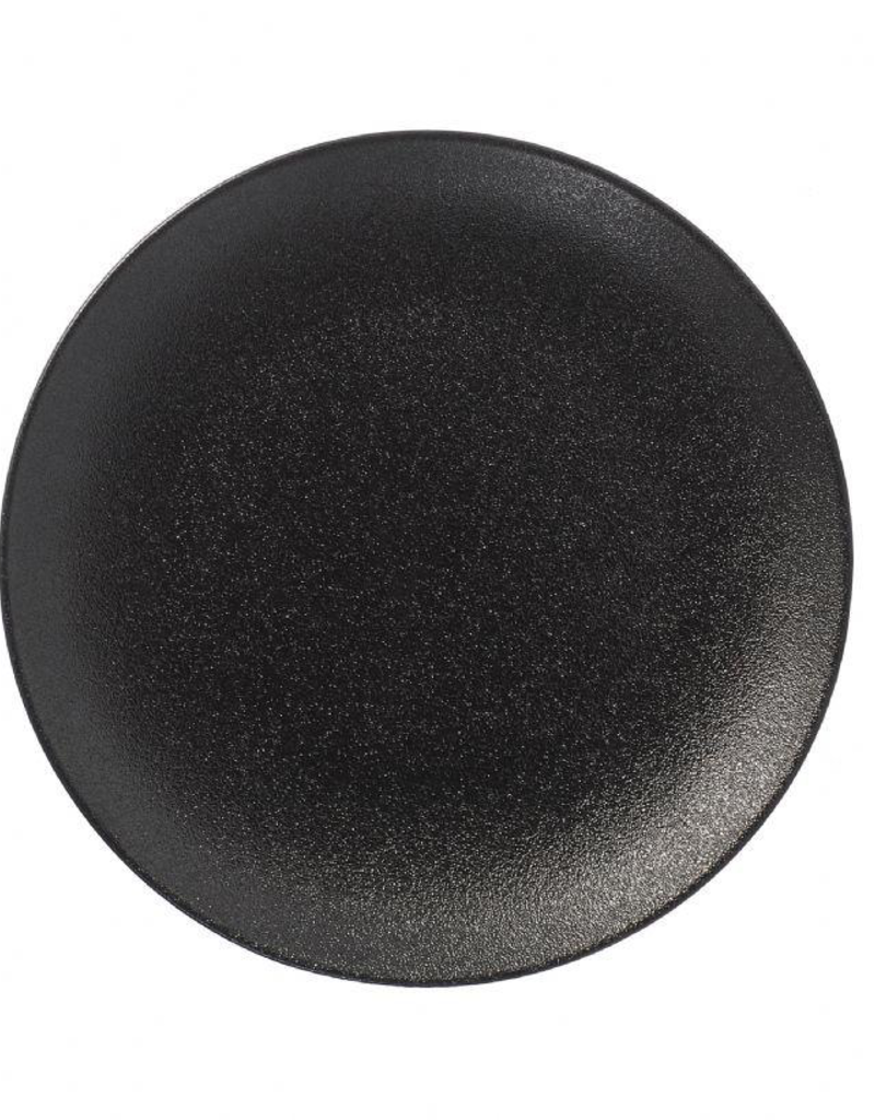 "UNIVERSAL ENTERPRISES, INC. 10"" Black Round Coupe Black Plate"