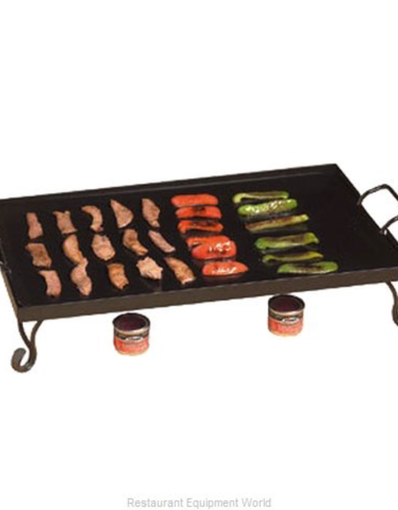 """AMERICAN METALCRAFT, INC AMC Iron Griddle (includes stand & black wrought) <br /> 27"""" L x 16"""" W x 5""""H"""