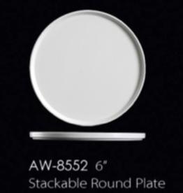 """UNIVERSAL ENTERPRISES, INC. 6"""" Stackable Round Plate 24/cs"""