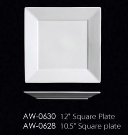 """UNIVERSAL ENTERPRISES, INC. 12"""" Square white Plate 8/cs"""