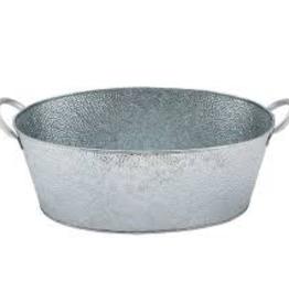 "TABLECRAFT TC 4.4 gallon galvonized oval beverage tub, galvanized steel, 23"""