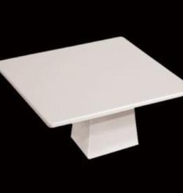 "UNIVERSAL ENTERPRISES, INC. 14"" Square Cake Platter & Stand White Melamine 2/cs"