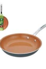 "ARAMCO IMPORTS Alpine Fry Pan Aluminum 9.5"" Copper Ceramic Coating Hard Anodized Painting S/S Handle"