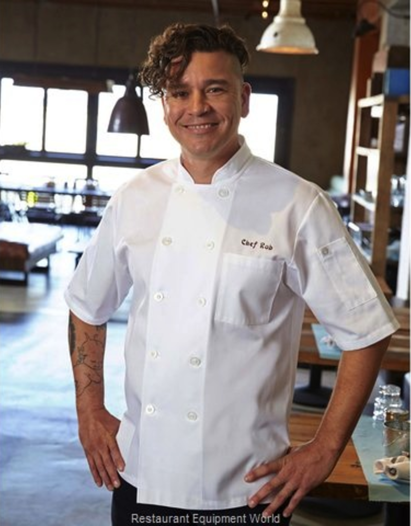Chef Works CHEF WORKS Volany Chef jacket Short sleeve white 65% poly 35% cotton