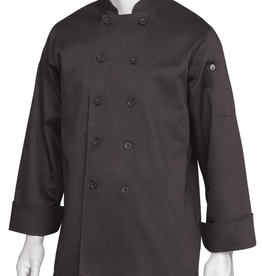 Chef Works CHEF WORKS Bastille Basic Long Sleeve Chef Coat X-Small 65% Poly/35% Cotton