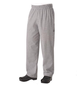 Chef Works Chef Works Checker Black Baggy Chef Pants Medium