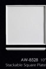 """UNIVERSAL ENTERPRISES, INC. 10"""" Stackable Square Plate 12/cs"""